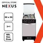 Nexus 4-Burner Gas Cooker GCCR-NX-5055B (3+ 1)